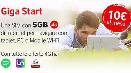 Vodafone Giga Start: fino a 5 gb al mese