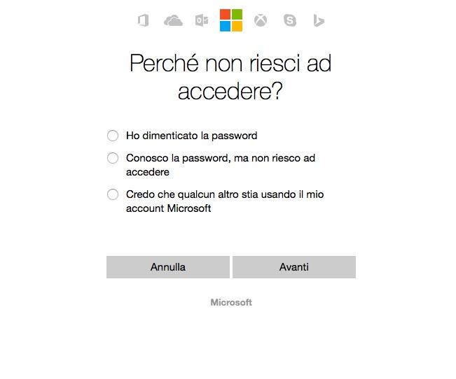 come recuperare la password di windows phone