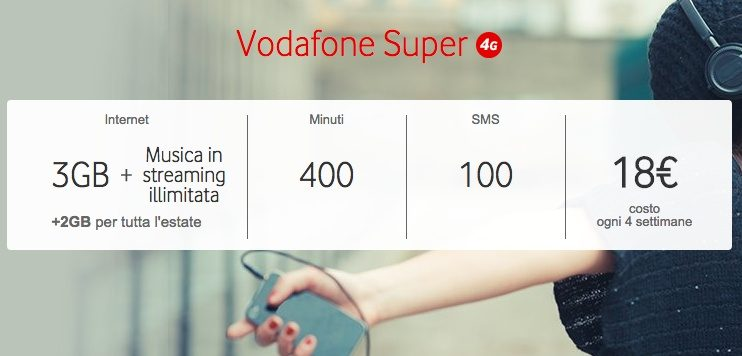 Vodafone Super è la nuova offerta per l'estate 2016
