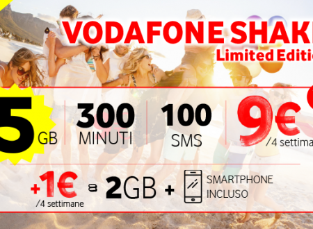 Vodafone Shake Limited Edition a 9€ al mese