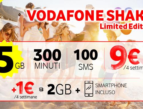 Vodafone Shake Limited Edition a 9€ al mese